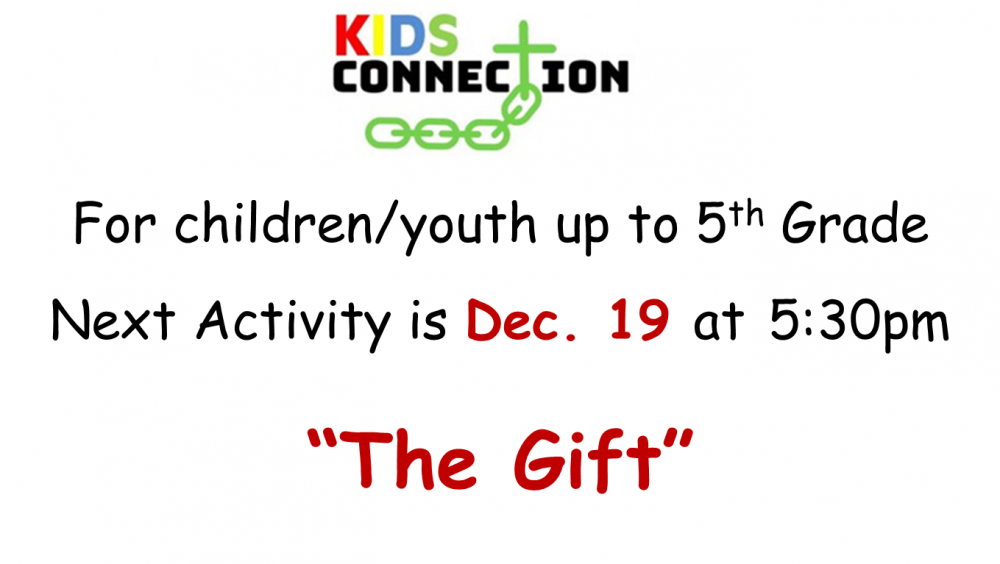 Kids Connection 12-19-2019