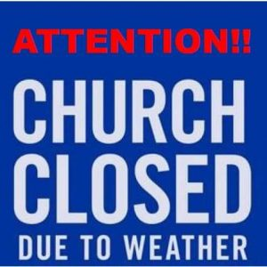 Church Service is Cancelled