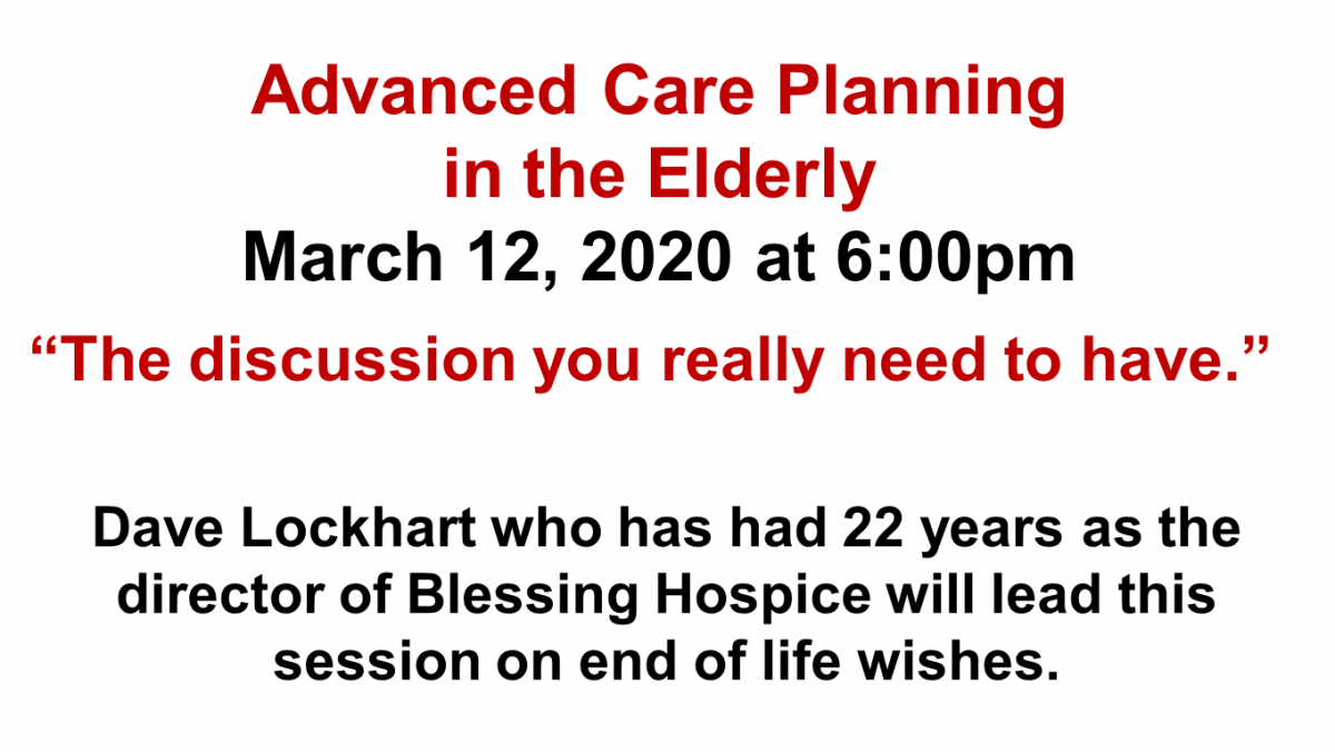 Advance Care Planning in the Elderly