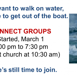 Connect Groups March 2020